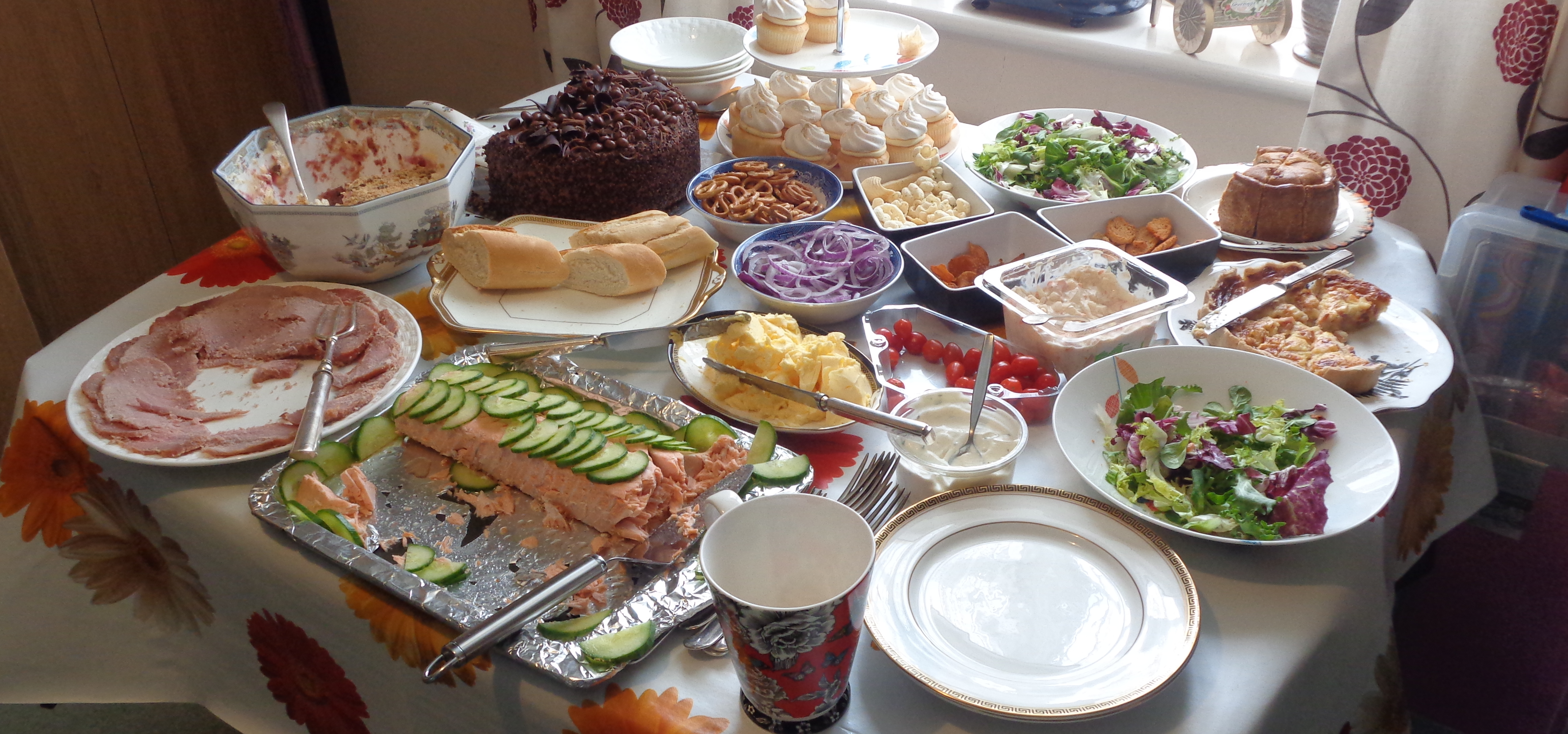 Lunch time spread