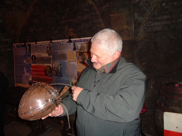 Jan with helmet
